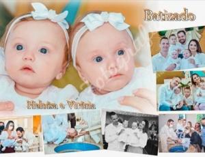 Batismo da Heloísa e da Vitória 16-05-21